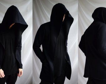 Underworld hoodie II ( mens hoodie jacket avant garde dark post apocalyptic elegant underground innovative buttoned )