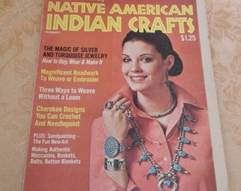 Native American Indian Crafts Magazine by Woman's Day #1 1975
