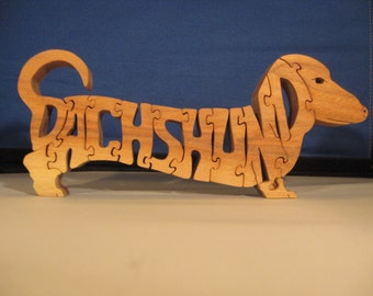 Dachshund Letter Puzzle