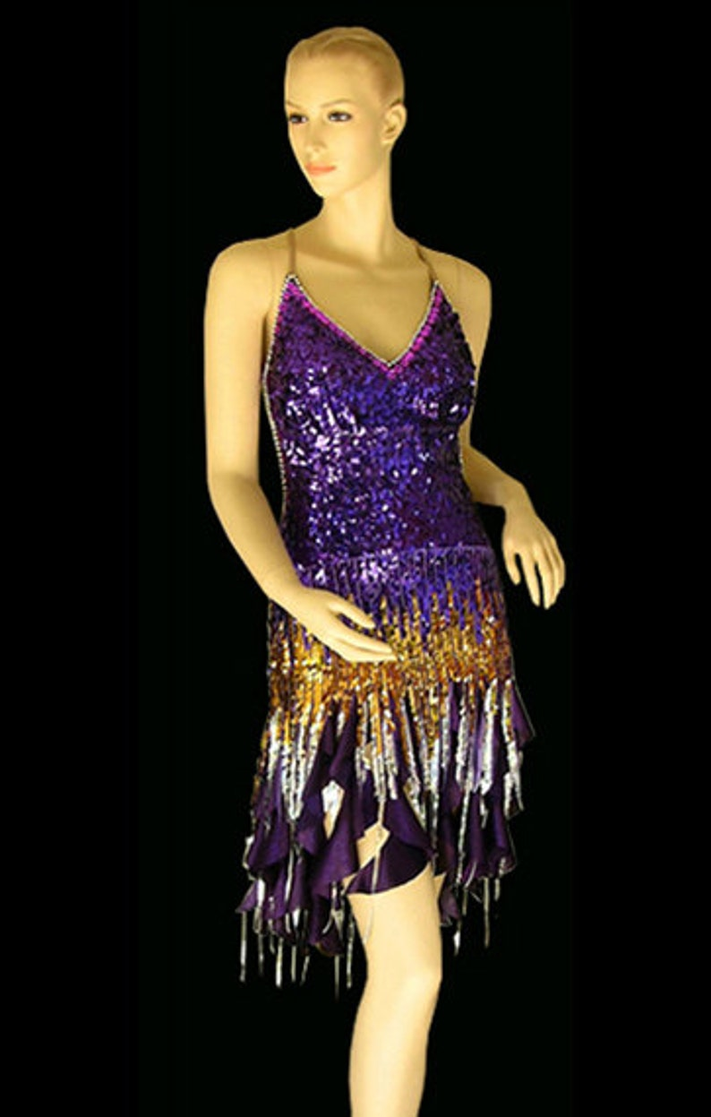 c953e845fe90 Latin Dance Costume. Sexy Latin Dress with low cut back