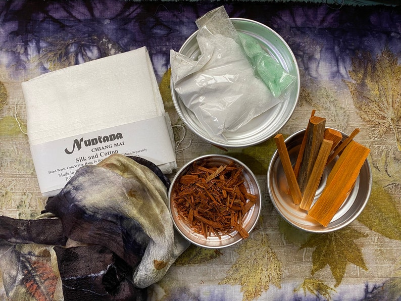 Silk Scarf and Natural Dyes kit for Eco Printers image 0