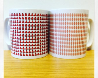 Set of Vagina Vulva and Willy His & Hers Private Part Mugs Cups