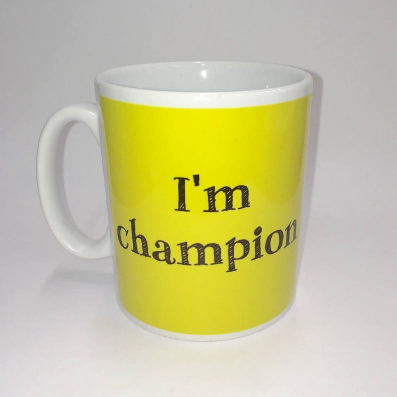 I'm champion or at least I'm working on it. Mug  image 0