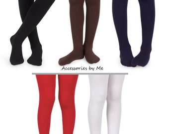 BriskyM Newborn Baby Girls Tights Toddler Kids Knit Cotton Pantyhose Warm Leggings Pants Stockings 3 Pairs