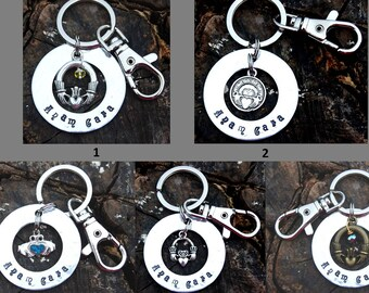 Personalized Anam Cara (Soul Friend) & Claddagh Keychain Valentine's Day Gift St. Patrick's Gift Christmas Gift Irish Celtic Gift
