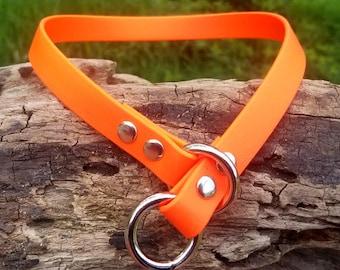 "Custom 5/8"" Strong Biothane Slip Dog Collar, Choose Your Colors, Great Dog Gift, Vegan Leather Dog Collar, Vegan Leather Adjustable Collar"