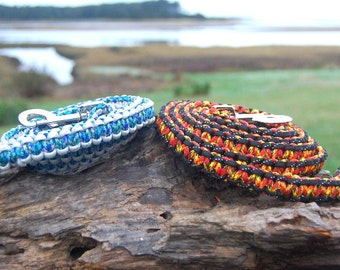 Custom Paracord Dog Leash, Choose Your Colors, Can Choose an Aircraft Aluminum Screw Lock Carabiner Instead of Snap, Great Christmas Gift