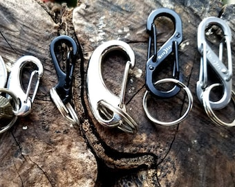 Add On Quick Change Clip, Large Metal or Nite Ize Stainless Steel S-Biner Quick Change Clip Makes it Easy to Move Tags from Collar to Collar