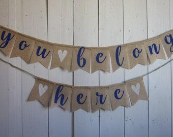 You Belong Here Banner, Adoption Bunting, Foster Kid Garland, New Home Decoration, Pet Adoption, Motivational Saying, Inspirational