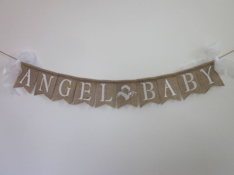 Angel Baby Shower Banner Nongender Baby Party Hospital Etsy