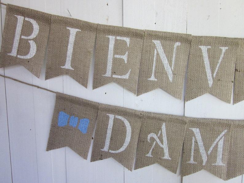 Ducha De Bebe Pajarita Sign- Bienvenido Decoracion Welcome New Baby Banner Nombre De Bebe Personalizado Baby Shower Decoration