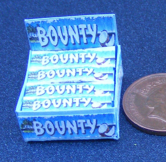 1:12 Scale 4 Milk Chocolate Bar Packets Tumdee Dolls House Miniature Sweet Shop