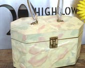Vintage Pastel Lucite Annie Laurie Palm Beach Box Handbag Bag Purse