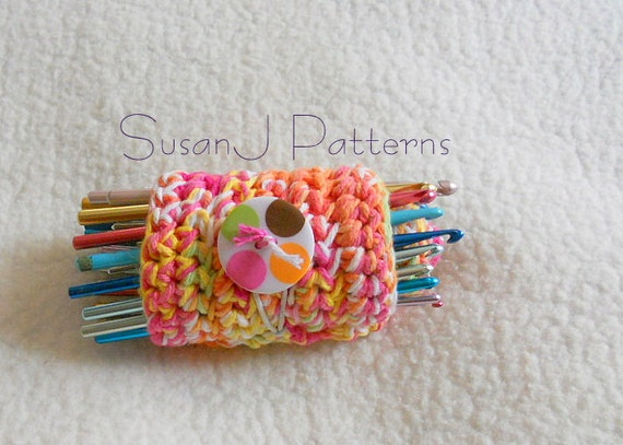 Crochet Pattern Pdf Crochet Hook Roll Up Organizer Etsy