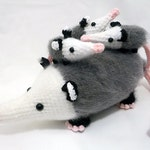 Crochet PATTERN PDF - Amigurumi Opossum - amigurumi pattern, cute crochet opossum pattern, crochet animal plush, children's toy, softie