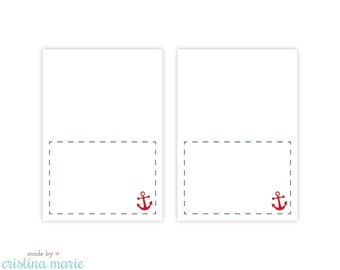 INSTANT DOWNLOAD, nautical baby shower, table tents, printable table tents