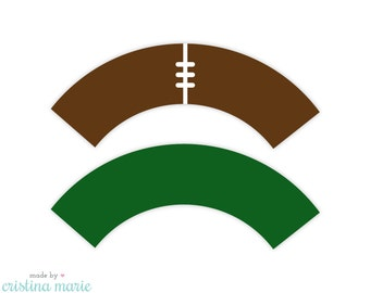 INSTANT DOWNLOAD, football party, cupcake wrappers, printable cupcake wrappers