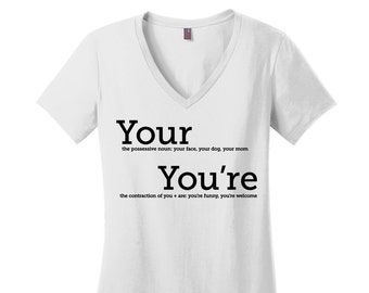 Grammar Police Shirt, Grammar Shirt, Comfy Tee, Shirts for Teachers, Gifts for Teacher Shirts, Gifts for Mom, Gifts for Friends Gifts, VNeck