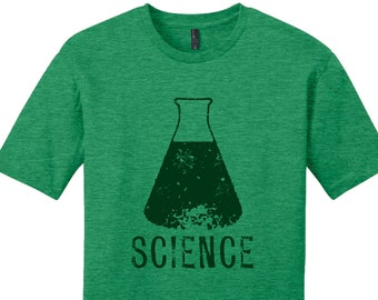 Hipster Science Shirt Men's Shirt Women's T-Shirt Gift for Teacher Nerdy Shirt Scientist Shirt College Student Shirt Science Beaker Shirt