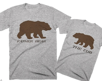 Gifts for Dad Shirt Dad Tshirt Father Son Matching Shirts Fathers Day Gifts Matching Father Daughter Shirts Fathers Day Shirt Bear Shirt Dad