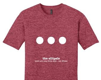 Ellipsis Punctuation Shirt English Teacher Mens Grammar Shirt Gifts for Teachers Cool Funny T Shirt Man Unique Mens Shirt Typography Tshirt