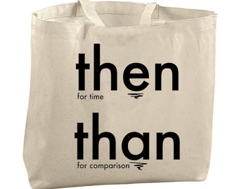 Tote Bag Canvas Funny Tote Bag Large Totes Beach Bags Tote Reusable Grocery Bag Tote Teacher Bag Gifts for Teachers Gifts Library Apostrophe