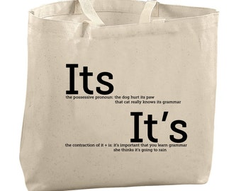 8778909b1609 Its It s Grammar Tote Bag Grammar Police Gifts for English Teacher Gifts  for Sister Gifts for Mom Gifts for Co Worker Gifts for Friend Gifts