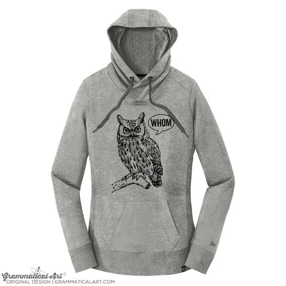 Hoodie Men Owl Shirt Grammar Shirt Who Whom Hooded Sweatshirt English Teacher Gift for Teachers Editor Cool Funny Hoodie Typography Hoodie 915V49V