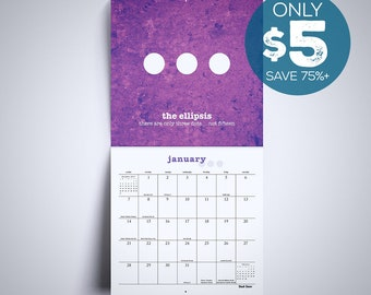 Wall Calendar Gifts for Teachers Gifts 2018 Calendar English Teacher Gift Grammar Calendar Punctuation Calendar Classroom Calendar Funny