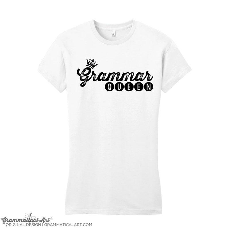 71d08d56 Women Funny Grammar Shirt Grammar Police Grammar Queen Shirt | Etsy