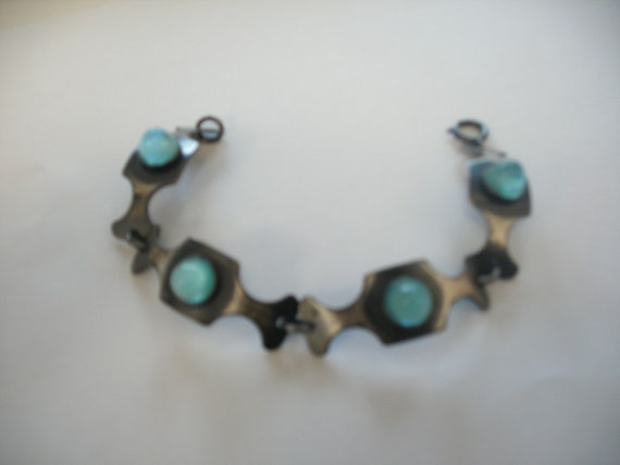 Vintage Modernist Bracelet Mid Century Modern Sign