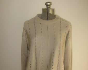 f95333808d903 Mens Vintage Beige and Brown Sweater