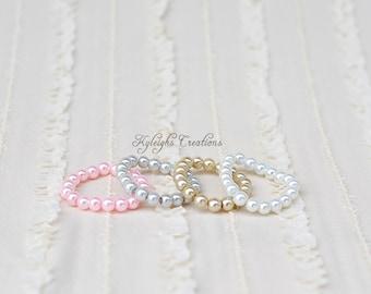 Soft-colored baby bracelets, newborn bracelet, 12 month bracelet, baby jewelry