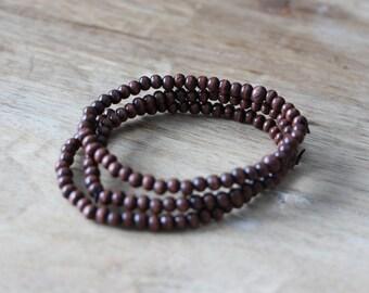 Men's Brown Beaded Bracelet 3-Pack