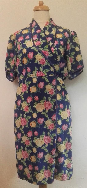 Gorgeous Floral Berketex  Short Sleeved Dress 1980