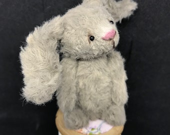 Bunty - One of a Kind Miniature Artist Bear (Bunny) - vegan
