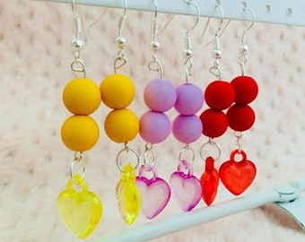 Rainbow Heart Earrings.