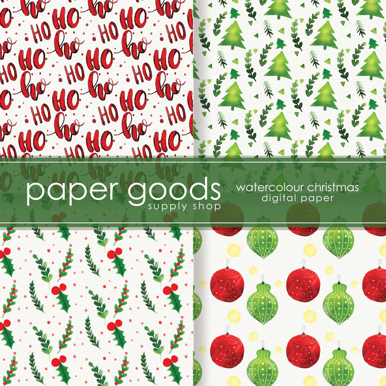Weihnachten Digital Urlaub Scrapbook Papier Papier | Etsy