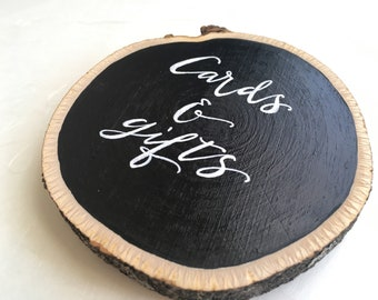 Rustic Wood Signs with calligraphy for wedding and reception decor, table numbers, and more!