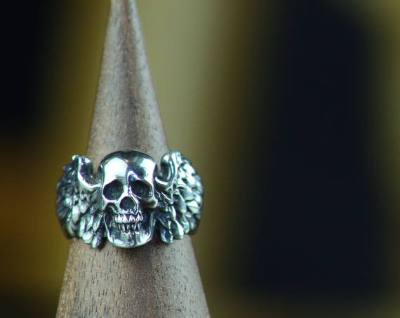 Winged Death Ring