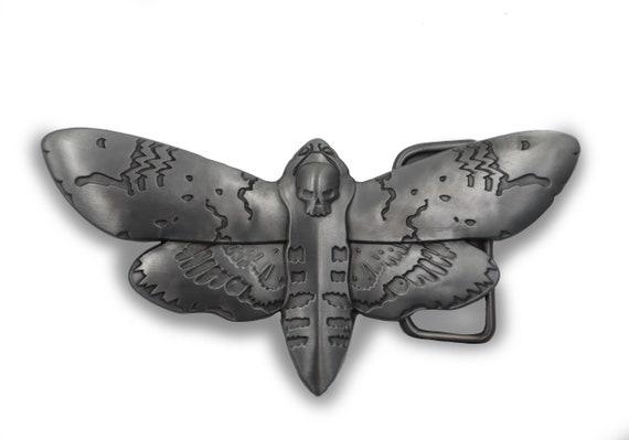 Deaths head hawk moth - unisex belt buckle!