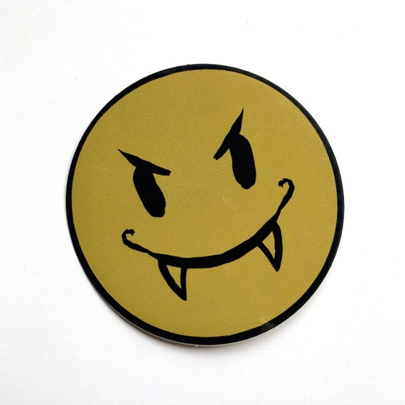 vampire smile high quality vinyl sticker!