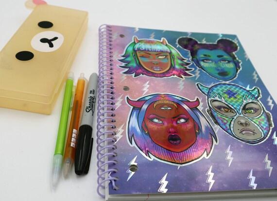 Demon days 4 piece holographic sticker set!