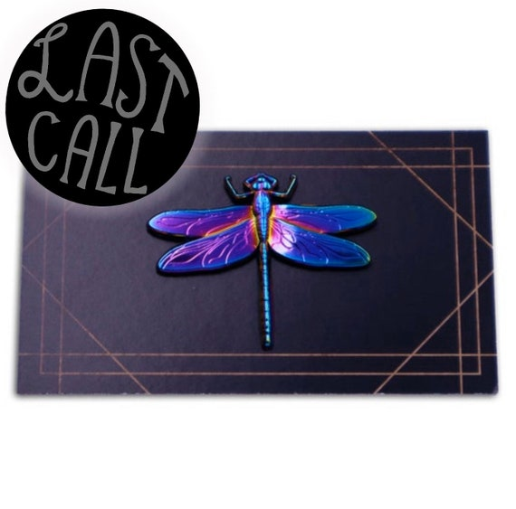 3D Rainbow Metal Dragonfly Pin