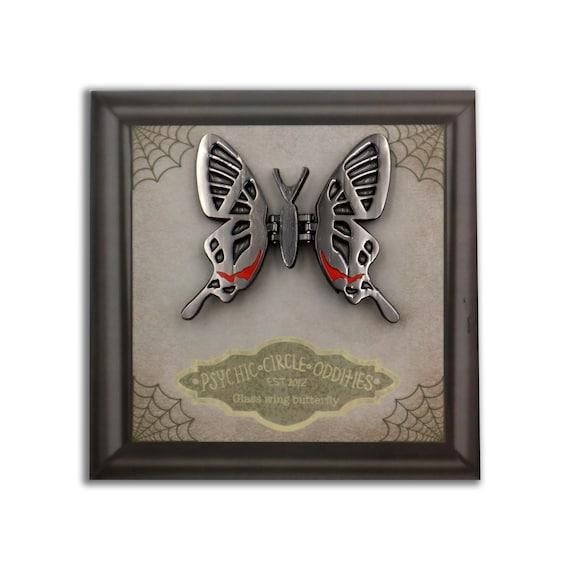 MOVING WINGS- Glasswing butterfly- clear enamel pin