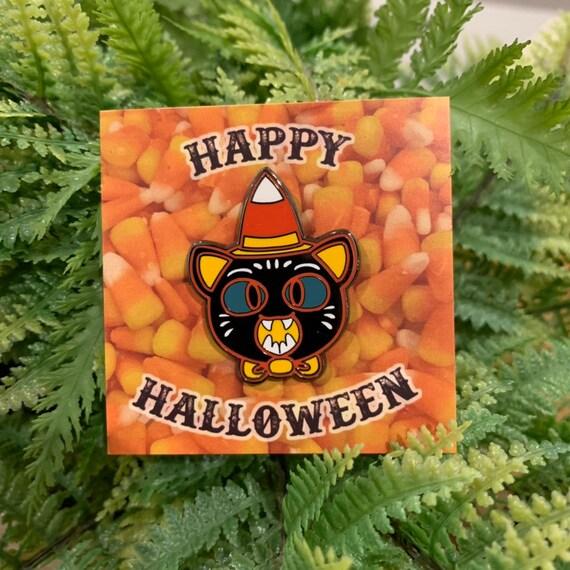 Halloween kkg cat enamel pin! Art by Egoraptor!