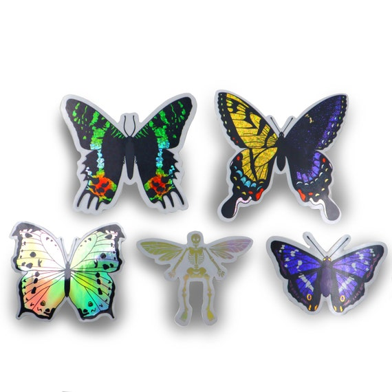 Buggy friend sticker set #2 - comes with 5 LARGE holographic or glitter vinyl stickers!
