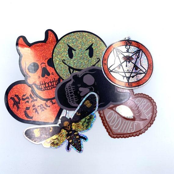 Devil hearts Glitter sticker pack