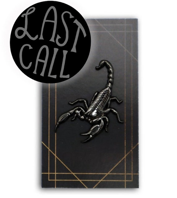 3D Black Metal Scorpion Pin