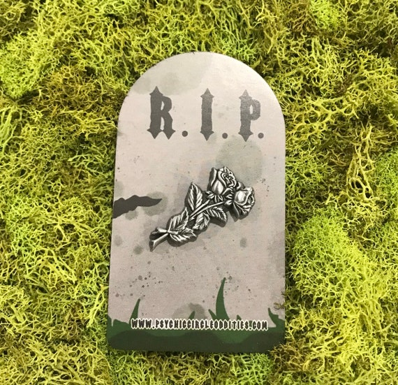 The rose grave stone marker! Limited edition 3D metal pin